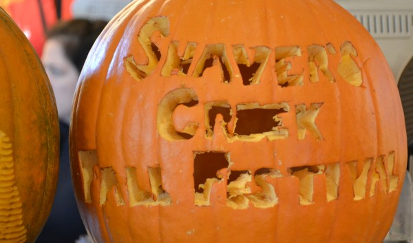 A jack-o-latern carved with &quot;Shaver's Creek Fall Festival&quot;
